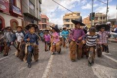 Niños quechuas indígenas en Ecuador Fotos de archivo