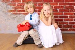 Niños rubios hermosos. Serie Fotografía de archivo libre de regalías