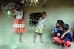 Niños rurales imagen de archivo