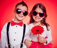 Niños soleados Imagen de archivo