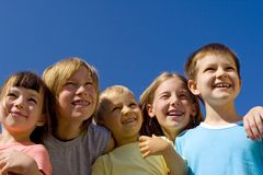 Niños sonrientes Imagen de archivo libre de regalías