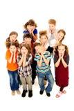 Niños sorprendidos Foto de archivo