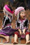 Niños tailandeses de la tribu de la colina Fotografía de archivo