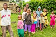 Niños Tanzania del Masai Fotos de archivo libres de regalías