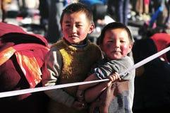 Niños tibetanos Imagen de archivo libre de regalías