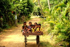Niños tribales fotografía de archivo libre de regalías