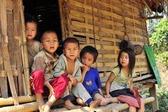 Niños tribales de la montaña Foto de archivo libre de regalías