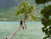 Niños tropicales Foto de archivo libre de regalías
