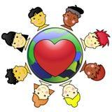 Niños unidos Stock de ilustración