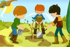 Niños voluntarios Imagenes de archivo