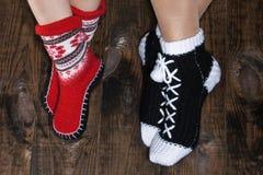 Niños y adulto de los calcetines Fotografía de archivo