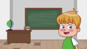 Niños y animación de la escuela HD stock de ilustración