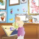 Niños y cuadro libre illustration