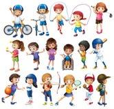 Niños y deportes libre illustration