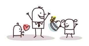 Niños y el día de padre libre illustration