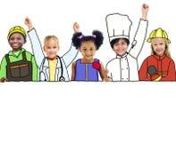 Niños y espacio ideal de Job Concepts y de la copia Fotografía de archivo