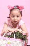 Niños y flores Imagen de archivo