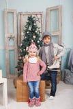 Niños y humor del Año Nuevo Fotografía de archivo