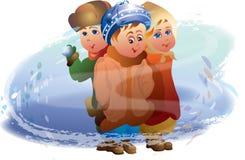 Niños y la Navidad Fotografía de archivo libre de regalías