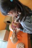 Niños y lecciones de la anatomía Imágenes de archivo libres de regalías