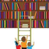 Niños y libros Lectura, educación, conocimiento, aprendiendo fla Fotos de archivo