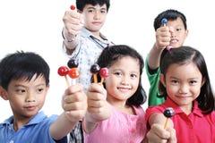Niños y Lollipops Imagen de archivo libre de regalías