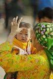 Niños y madre de la minoría étnica Fotografía de archivo