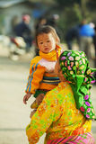 Niños y madre de la minoría étnica Fotografía de archivo libre de regalías