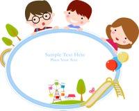 Niños y marco stock de ilustración