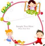 Niños y marco libre illustration