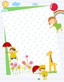 Niños y marco Foto de archivo libre de regalías