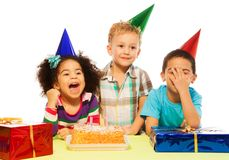 Niños y partido Fotos de archivo libres de regalías