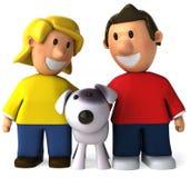 Niños y perro libre illustration