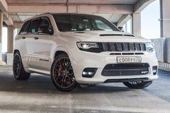 Nižnevartovsk, Russia - 16 giugno 2019: Jeep Grand Cherokee SRT fotografia stock libera da diritti