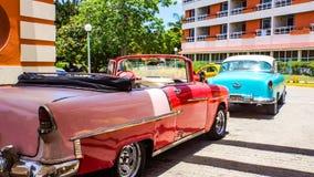 Ni Havana dos carros do vintage, Cuba Foto de Stock