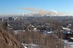 Nižnij Tagil Vista dalla montagna alta Regione di Sverdlovsk La Russia Immagini Stock Libere da Diritti