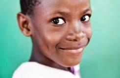 Ni?o en escuela en Uganda imágenes de archivo libres de regalías