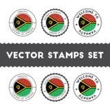 Ni-Vanuatu flag rubber stamps set. Stock Image