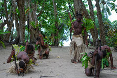 Ni-Vanuatu Traditional Dance Stock Photo