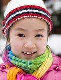Niña en nieve Fotos de archivo libres de regalías