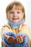 Niña en suéter caliente Foto de archivo libre de regalías