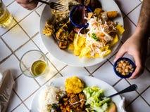 Niacaragua日餐 库存照片