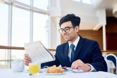 Śniadanie biznesmen Zdjęcie Stock