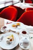 Śniadanie dla dwa w restauraci Obraz Stock