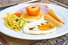 Śniadanie - grzanki Zdjęcia Royalty Free