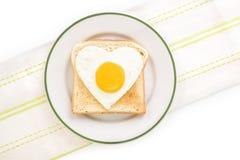 śniadanie ja kocham Fotografia Royalty Free