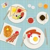 Śniadanie odgórny widok Obraz Stock