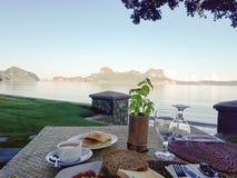 Śniadanie przy El Nido Palawan Filipiny Fotografia Stock