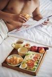 Śniadanie w łóżku Fotografia Stock