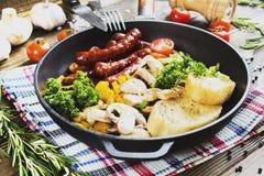 Śniadanie w niecce Obraz Stock